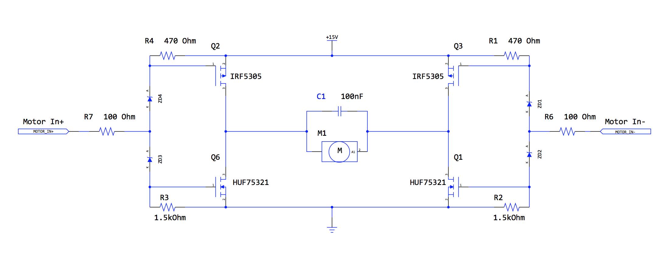 Electronic And Sensor Systems H Bridge Circuit Design Motor Driver